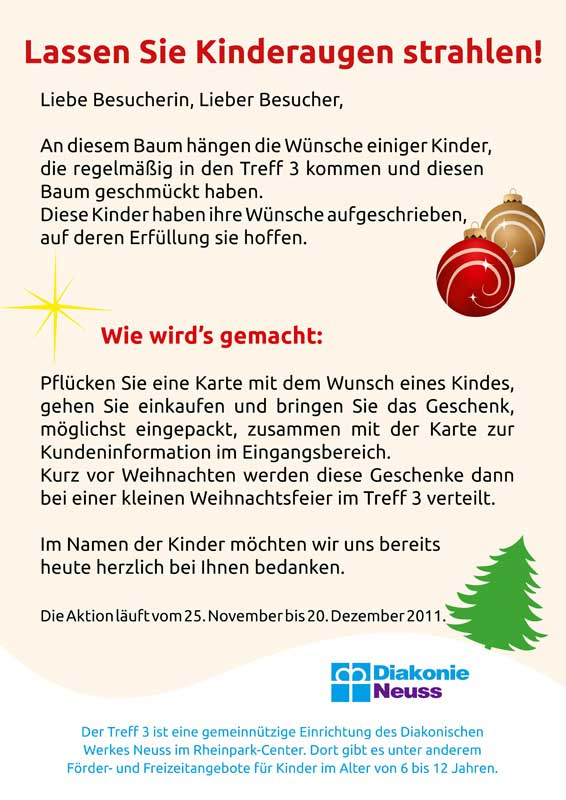 Aktion Wunschbaum im Rheinpark-Center