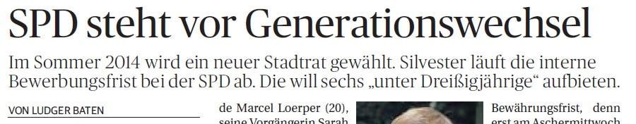 NGZ schreibt über Erneuerung in der SPD