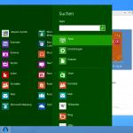 """Das """"Windows 8 style"""" Menü"""